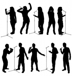 singing people vector image vector image