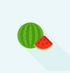 watermelon icon vector image vector image