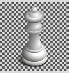white queen chess piece in isometric vector image