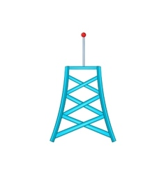 Wireless connection tower icon cartoon style vector image vector image