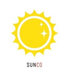 Yellow sun icon logo design concept vector image vector image