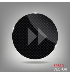Glass button media icon vector