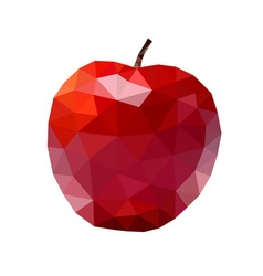 apple low poly red vector image