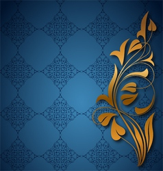 Ornamental blue background vector