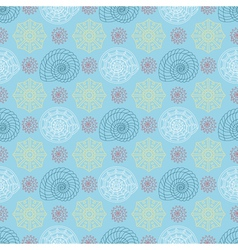 Seamless pattern with colorful seashells vector