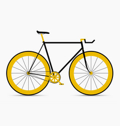 Hipster single speed bike in black and gold colors vector