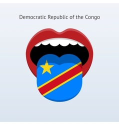 Democratic republic of the congo language vector