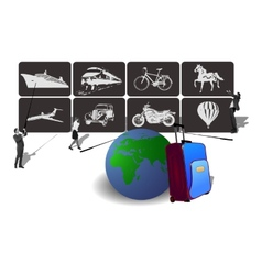 Transport icons for travel vector
