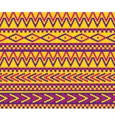 yellow pixeled brazil pattern vector image