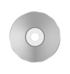 Grey compact disc vector