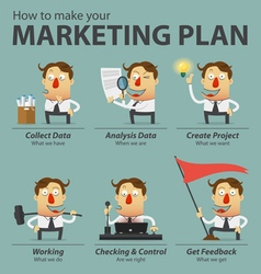 Marketing plan infographics vector