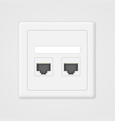 Cloud computing concept socket rj45 vector