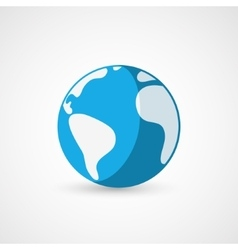 Flat earth icon geography vector