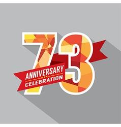 73rd years anniversary celebration design vector