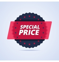 Special price badge stamp vector image