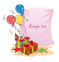 Kids birthday party vector
