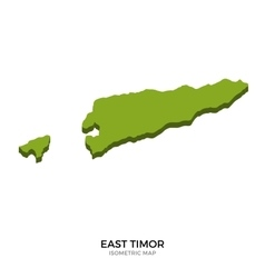 Isometric map of east timor detailed vector