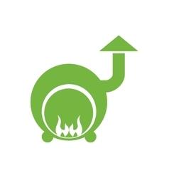 Steam machine icon spa center design vector