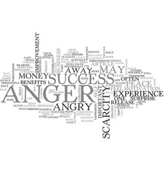 Anger and health text word cloud concept vector