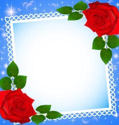 Background festive frame vector