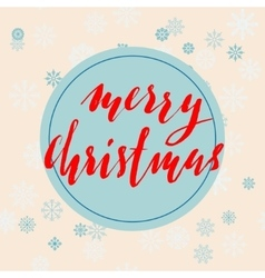Beige christmas background with christmas red vector