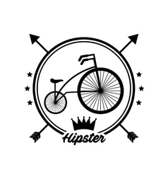 Bicycle retro hipster style vector