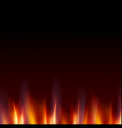 burn flame fire dark background vector image vector image