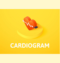 Cardiogram isometric icon isolated on color vector