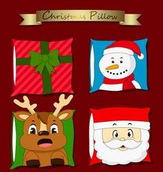 Christmas pillow vector