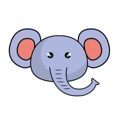 cute elephant animal kawaii style vector image vector image
