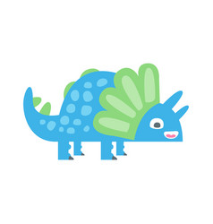 cute funny colorful dinosaur prehistoric animal vector image