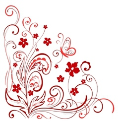 floral element for design vector image vector image