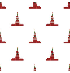 Kremlin icon in cartoon style isolated on white vector