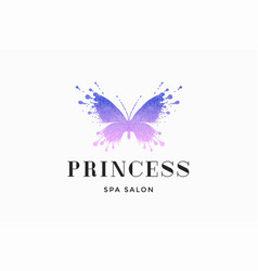 Label of spa salon princess vector