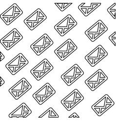message envelope background vector image