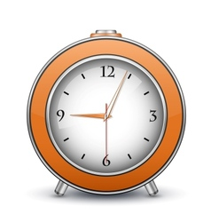 Metallic alarm clock vector