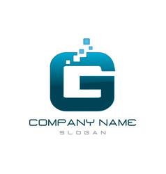modern letter g vector image