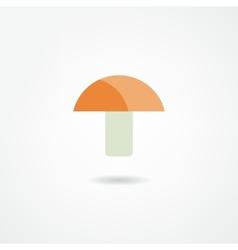 Mushroom icon vector