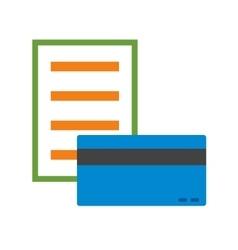 Pay via card vector