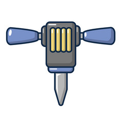 Pneumatic hammer icon cartoon style vector