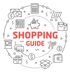 shopping guide linear vector image vector image