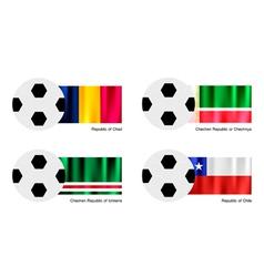 Soccer Ball of Chad Chechen Republic Ichkeria vector image vector image