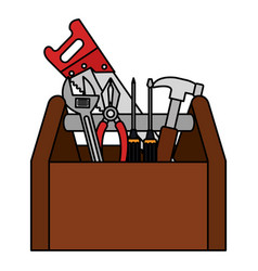 toolbox construction isolated icon vector image