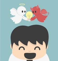 Unity- angel and devi l vector