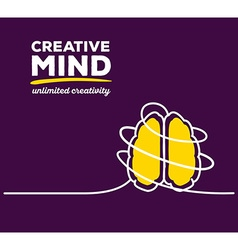 Yellow color brain with white wire and te vector