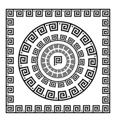 Greek ornament circle ornament meander round vector