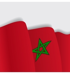 Moroccan waving flag vector