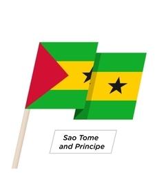 Sao tome and principe ribbon waving flag isolated vector