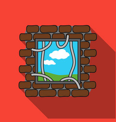 prison escape icon in flat style isolated on white vector image