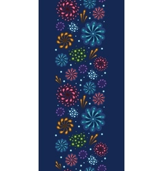 Holiday fireworks vertical seamless pattern vector